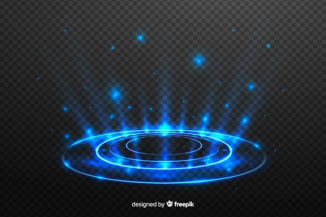 Light portal effect on dark background
