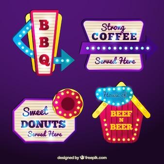 Light posters of restaurants