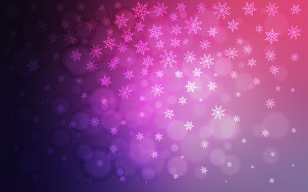 Light purple vector pattern with christmas snowflakes