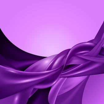 Light purple vector triangle polygon background.