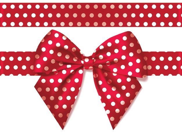 선물 리본 장식으로 밝은 빨간색 실크 활
