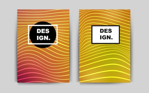 Light red yellow vector brochure for ui ux design