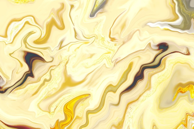 Light shades of yellow liquid acid marble background