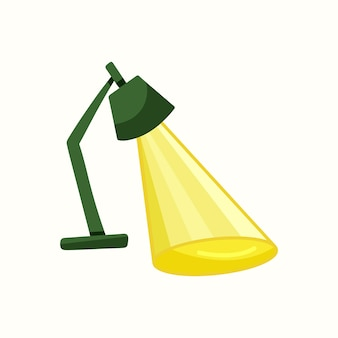 Light shines from the lamp. vector illustration in flat style