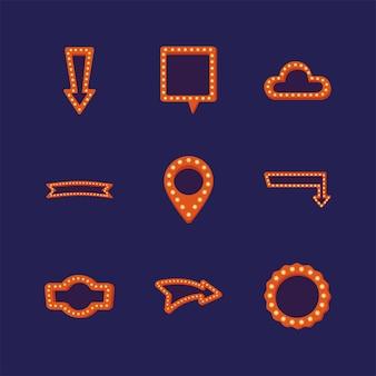 Набор световых знаков