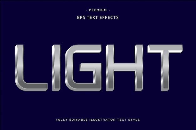 Light silver text effect  light text style