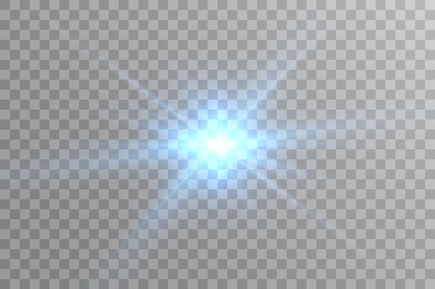 Light sources, concert lighting. glow effect. the star flashed with sparkles.