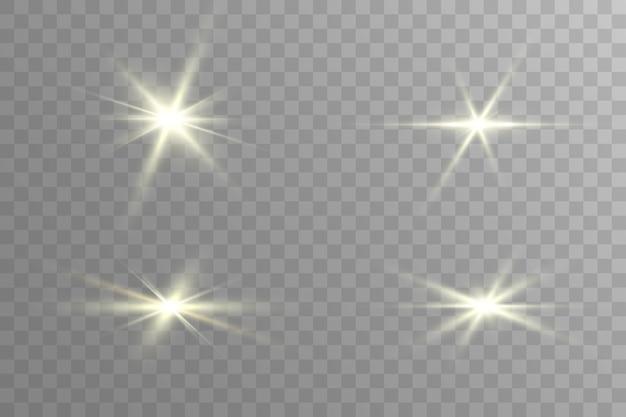 光源、コンサート照明。グロー効果。星はきらめきました。