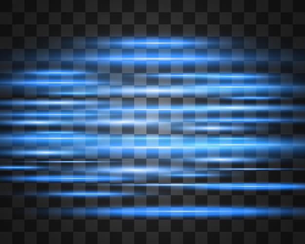 軽い特殊効果。透明な背景に明るいストライプ。