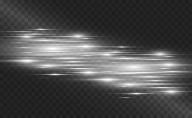 Световой спецэффект. светящиеся полосы на прозрачном фоне.