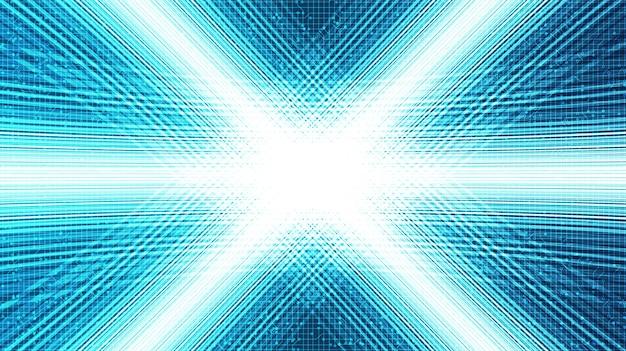 미래 배경, 디지털 및 연결에 대한 광속 모션 기술