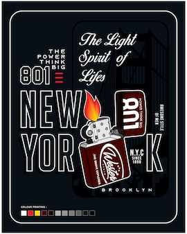 The light spirit of lifes vector typography illustration design graphic for printing
