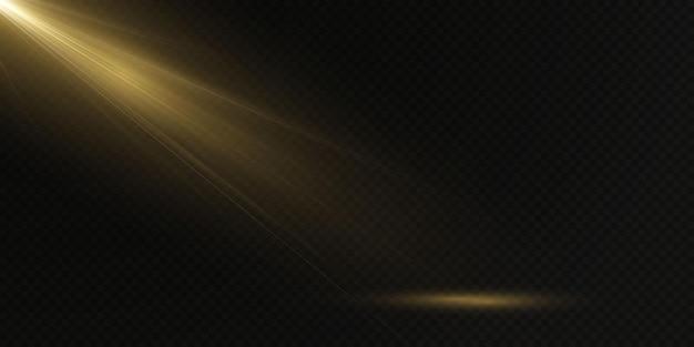 透明な背景に分離された光スポットライトベクトル