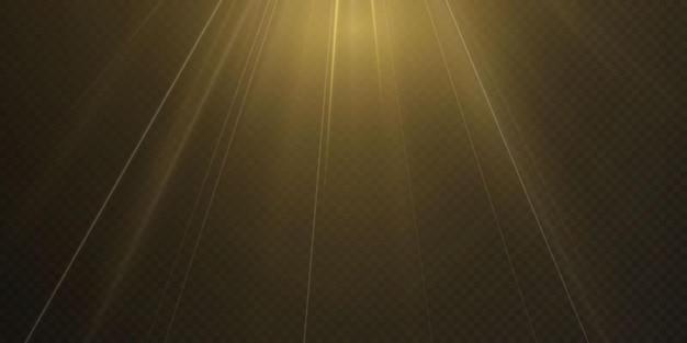 Light spotlight vector isolated on transparent background