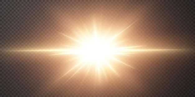 透明な黒い背景に明るい星