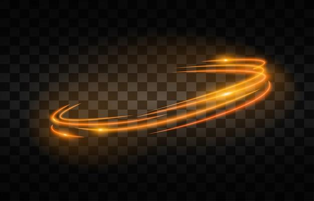 Light streak fast effect.