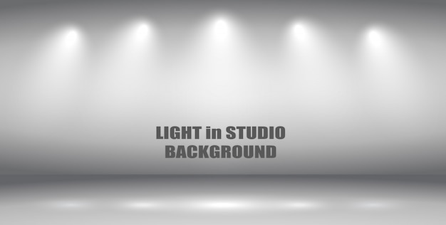 Light in studio background.