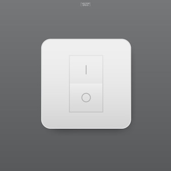 Light switch on gray background