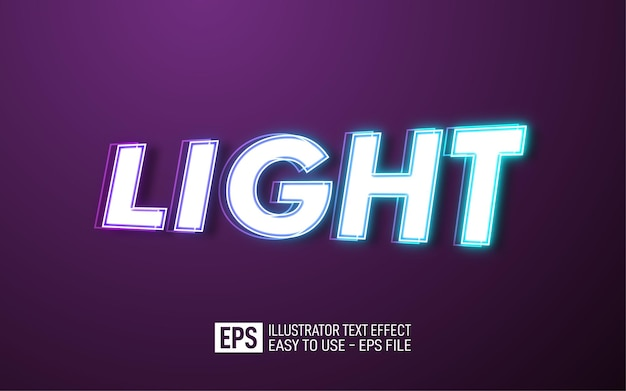 Light text editable style effect template