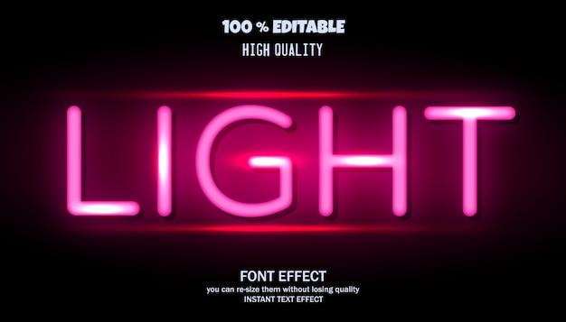 Light text effect. editable font