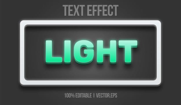 Light text effect editable