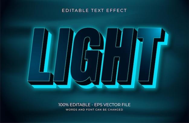 Световой текстовый эффект premium векторы
