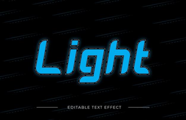 Light text effect
