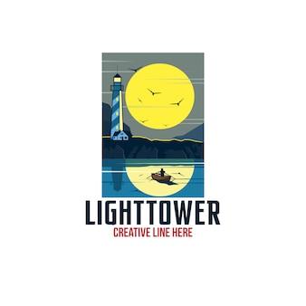 Light tower logo