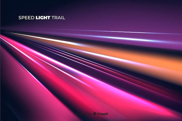 Sfondo della pista luminosa