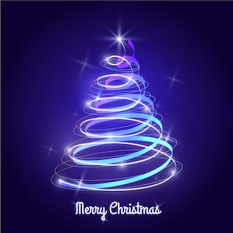 Light trail christmas tree concept