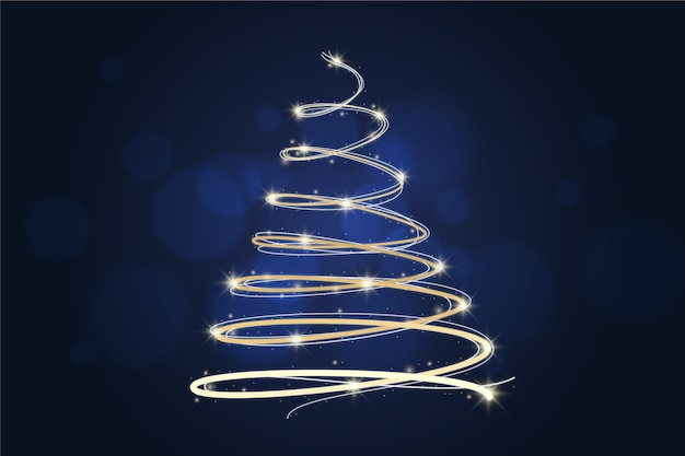 Light trail christmas tree concept