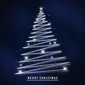 Light trail christmas tree