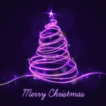 ライトトレイルのクリスマスツリー