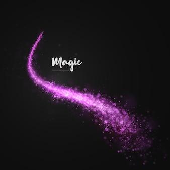 가벼운 트레일 회전 먼지 핑크 png 작은 보케 먼지가 결합 된 마법의 라이트 핑크 혜성