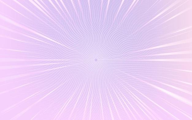 밝은 보라색과 흰색 추상 하프 톤 점선 배경