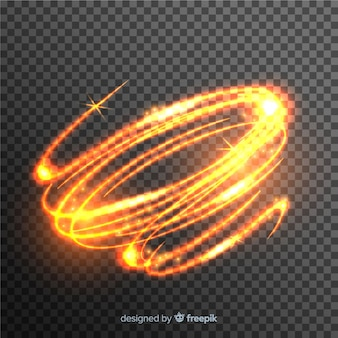 Light whirl effect with transparent background
