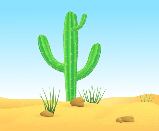 Шаблон ландшафта легкой дикой песчаной пустыни