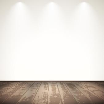 Light wooden room