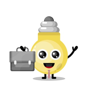 Light for work cute character mascot