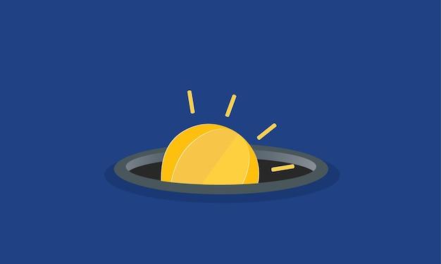 구멍에서 나오는 전구 창의적인 아이디어 개념 영감 사업