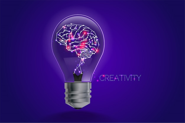 Lightbulb ideas concept