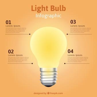 Lightbulb infographic template