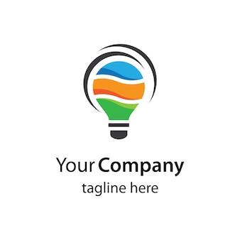 電球のロゴ画像イラストデザイン