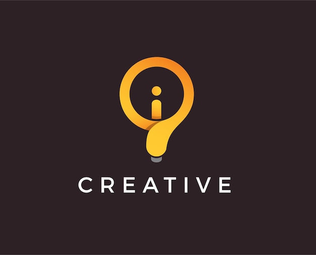 Lightbulb logo template.