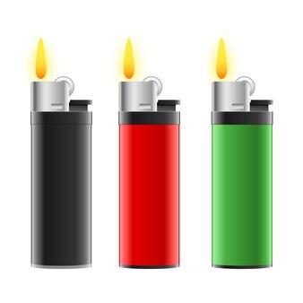 Lighter set   illustration on white background