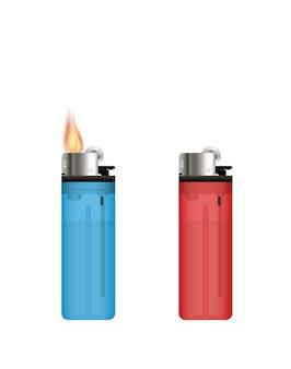 Lighter on a white background