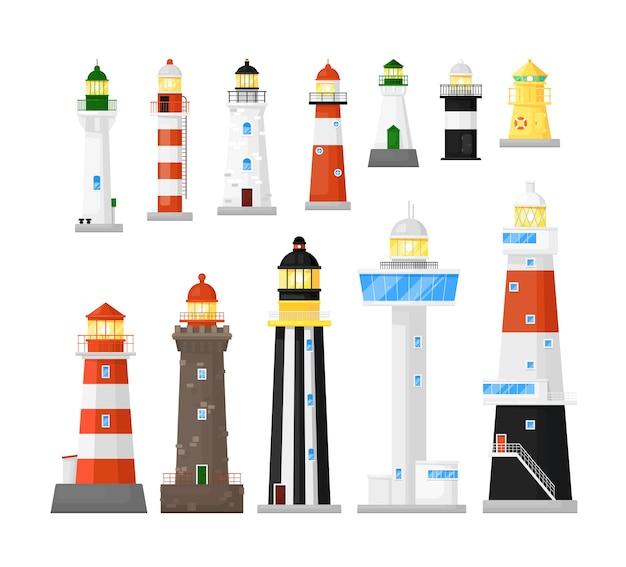 灯台とビーコンの船舶ナビゲーションの建設