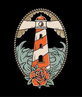 Маяк и роза
