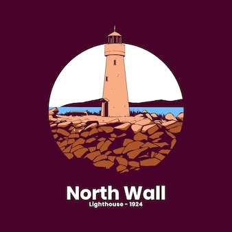 The lighthouse art design
