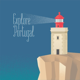 大西洋のベクトル図で灯台